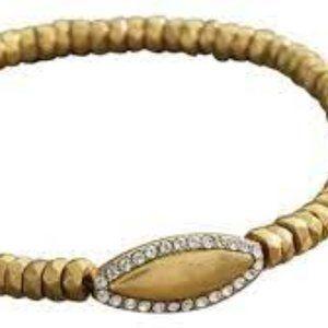 New! Silpada K&R Navette Stretch Brass Bracelet